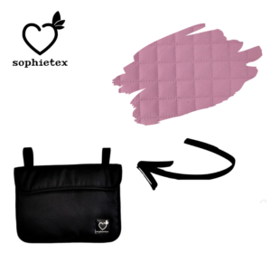 Dirty Pink winterized materials mini bag for every stroller type (Doona) and bicycle too.