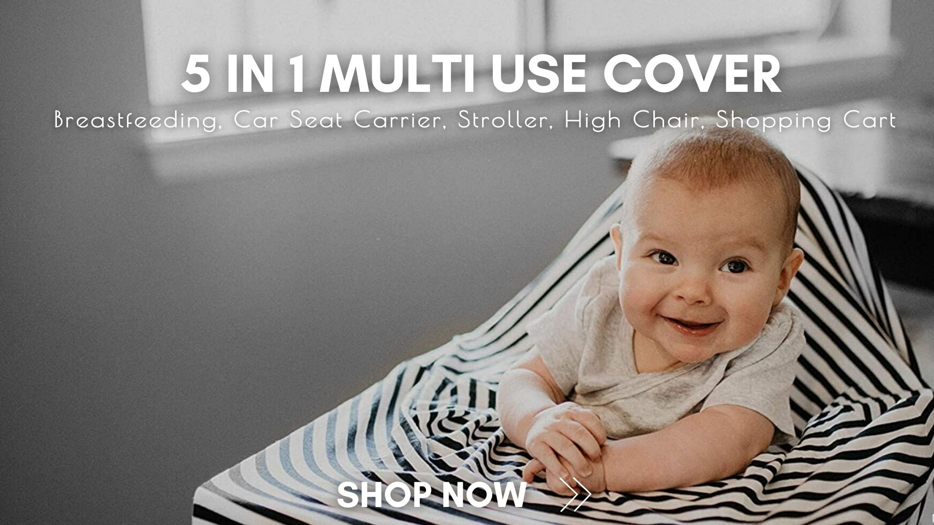 5 in 1 multi use cover for breastfeeding, stroller, car seat carrier, high chair ( Stokke Tripp Trapp, Ikea Antilop etc) and Shopping Cart. You can choose 5 color&pattern in our webshop.
